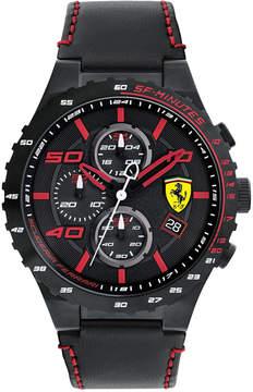 Ferrari Men's Chronograph Speciale Evo Chrono Black Leather Strap Watch 45mm 0830363
