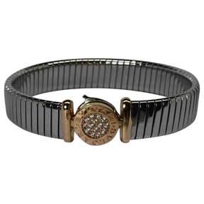 Bulgari Silver Steel Bracelet