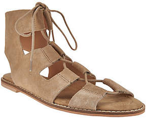 Sole Society As Is Suede Lace-up Sandals - Cady