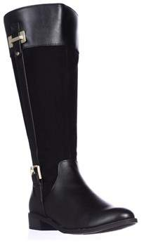 Karen Scott Ks35 Deliee Wide-calf Riding Boots, Black.