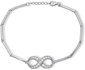 Crislu CZ Pave Infinity Charm Bracelet