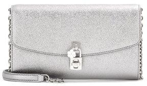 Dolce & Gabbana Dolce Pochette metallic leather shoulder bag