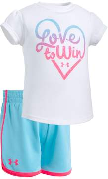 Under Armour Baby Girl Love To Win Graphic Tee & Shorts Set