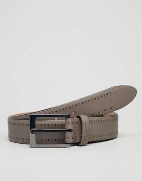 Ted Baker Havan Brogue Belt in Leather
