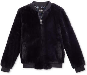 GUESS Faux Fur Bomber Jacket, Big Girls (7-16)