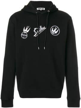 McQ Skater Swallow badge hoodie