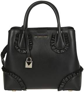 Michael Kors Michael Small Ruffled Tote - BLACK - STYLE