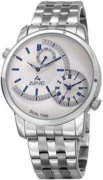 August Steiner Mens Silver Tone Strap Watch-As-8210ssbu