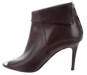 Karen Millen Peep-Toe Leather Booties