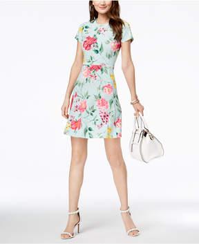 Jessica Howard Floral-Print Fit & Flare Dress, Regular & Petite
