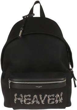 Saint Laurent City Embroidered Backpack