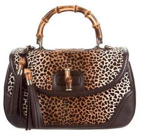 Gucci Bamboo Large Top Handle Bag - ANIMAL PRINT - STYLE