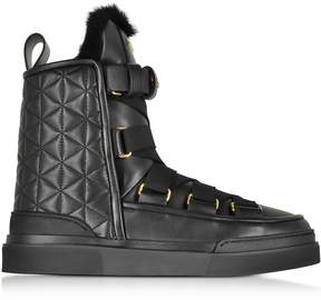 Balmain Apollonia Black Quilted Leather Boots