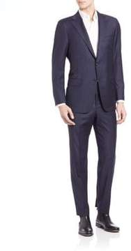 Hickey Freeman Pinstriped Woolen Suit