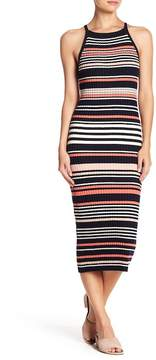 Cupcakes And Cashmere Dani Striped Midi Dress