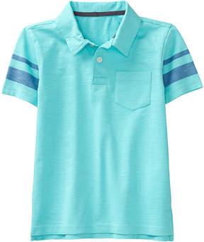 Gymboree Blue Tint Stripe-Detail Slub Polo - Boys