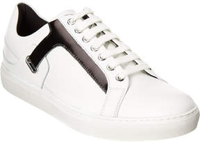 Versace Leather Lace-Up Sneaker