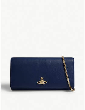 Vivienne Westwood Balmoral grained leather wallet-on-chain