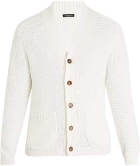 Ermenegildo Zegna Cotton and silk-blend knitted cardigan