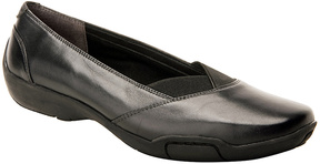 Ros Hommerson Black Nappa Cady Leather Flat - Women