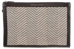 WANT Les Essentiels Woven Leather Clutch
