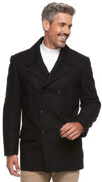 Chaps Men's Wool-Blend Double-Breasted Pea Coat
