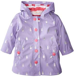 Hatley Silver Raindrops Splash Jacket Girl's Coat