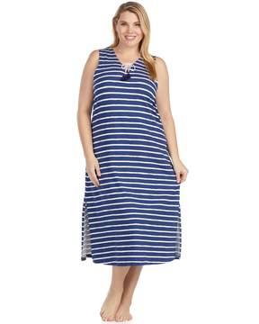 Cuddl Duds Plus Size Weekend Getaway Pajama Maxi Dress