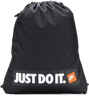 Nike branded drawstring backpack