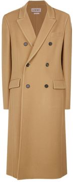 Loewe Double-Breasted Camel Coat