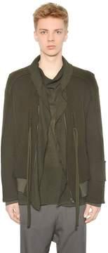 Damir Doma Wool Cloth Bomber Jacket W/ Draped Trim