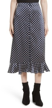 Frame Women's Print Silk Midi Skirt