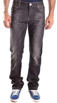 Frankie Morello Men's Black Cotton Jeans.