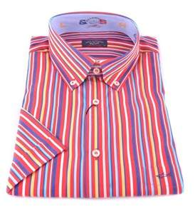 Paul & Shark Men's Multicolor Cotton Shirt.
