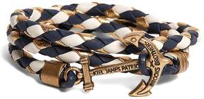 Brooks Brothers Kiel James Patrick Navy Leather Wrap Bracelet