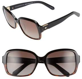 Women's Kate Spade New York Annor 54Mm Polarized Sunglasses - Black Havana