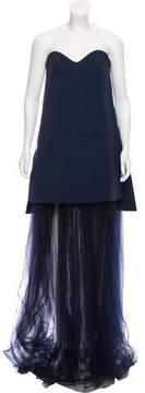 DELPOZO Strapless Evening Dress 2016