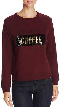 Andrew Marc Performance Moving Sequins Graphic Sweatshirt