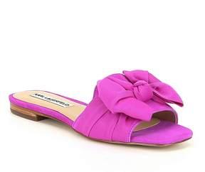 Karl Lagerfeld Paris PARIS Rosie Suede Bow Slide Sandals