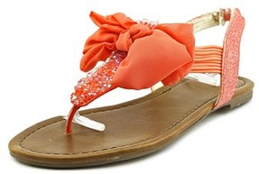 Material Girl Swan Women Open Toe Synthetic Pink Thong Sandal.