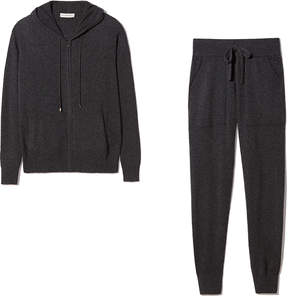 White + Warren Cashmere Pant and Hoodie Bundle in Charcoal Grey, X-Small
