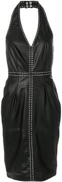 Diesel studded halterneck dress