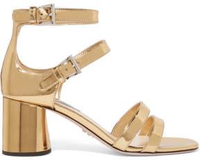 Prada Metallic Leather Sandals - Gold