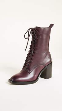 Frye Pia Heeled Combat Boots