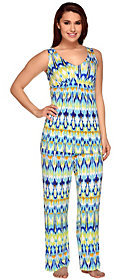 Carole Hochman As Is Abstract Ikat Knit Jersey 2pc Pajama Set