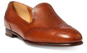 Ralph Lauren Quincy Calfskin Loafer Tan 37