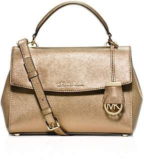 MICHAEL Michael Kors Ava Small Metallic Top Handle Satchel - PALE GOLD - STYLE