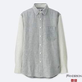 Uniqlo Men's Jwa Linen Cotton Long-sleeve Shirt