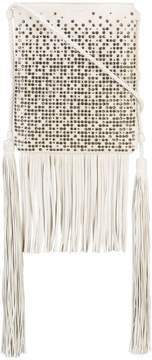 Saint Laurent studded fringed shoulder bag