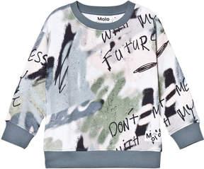 Molo Grey Morell Wall Art Sweatshirt